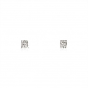 White Gold Diamond Stud Earrings 0.93ct TDW